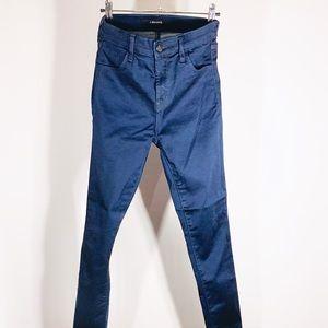 J Brand Dark Navy High-Wasted Skinny Jean